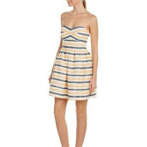 {Hutch} Anthropologie Strapless Striped Dress Sz 2